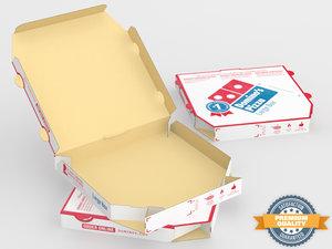 3d model domino pizza box