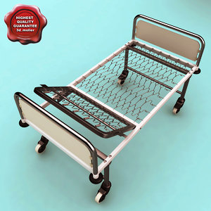 steel hospital bed c4d