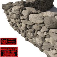 Stone - Rock Wall 3 - Grey Tan 3D Rock Wall