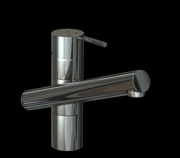 3d model modern tap mixer