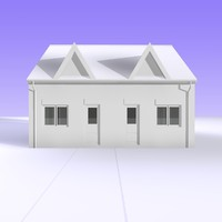 3dsmax british bungalow semi detached