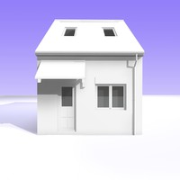 c4d british bungalow detached house