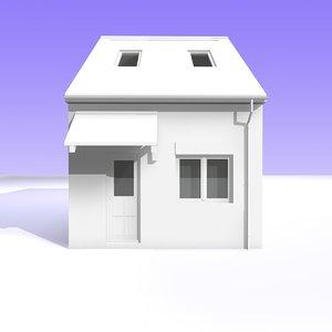 c4d british bungalow detached house