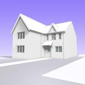 british 2 storey house 3ds