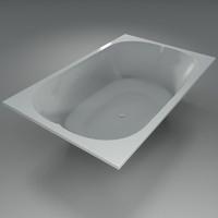 seater bathtube 3d max