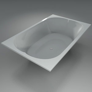 seater bathtube 3d max