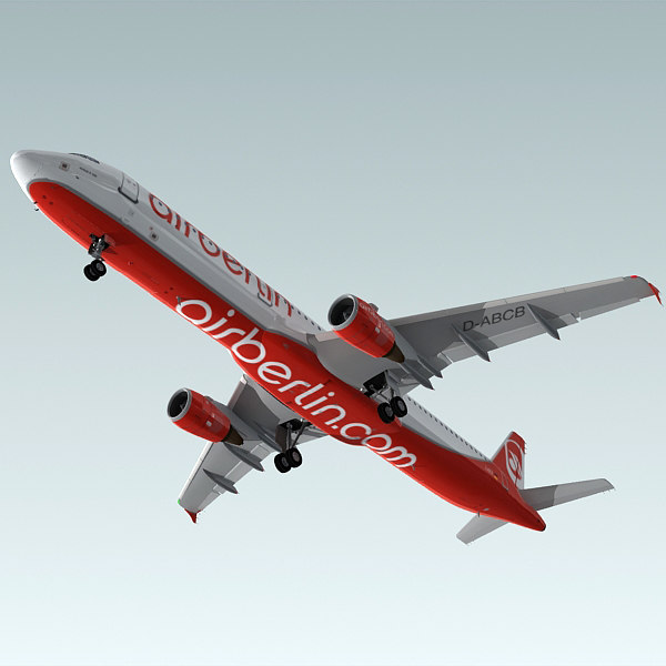 3d model a321 plane airberlin