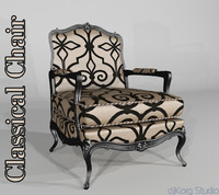 classical chair 3d max