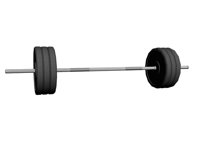 3ds max barbell exercise