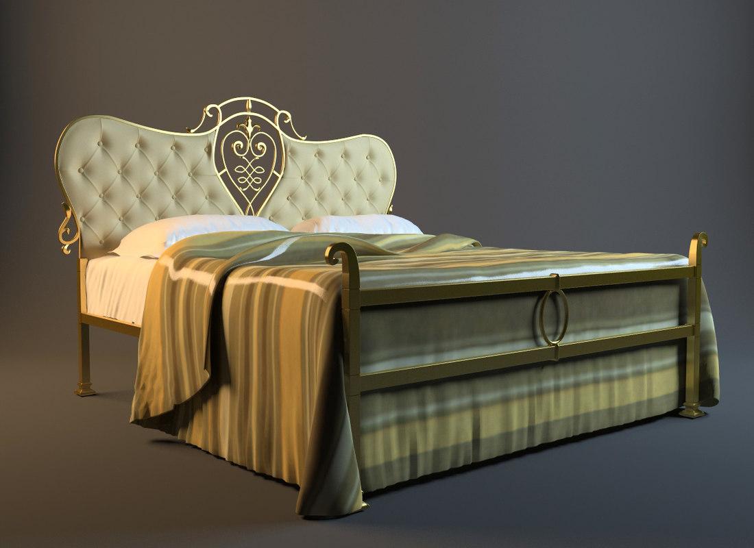 3d classic bed