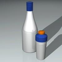 3d liquor bottle shaker model