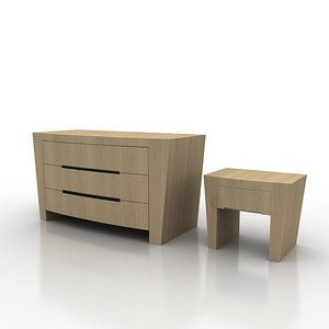 3d drawer night table annibale