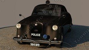 3d model police car wolseley ninety