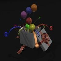 celebration present gift obj