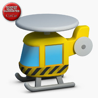 construction icons 21 helicopter 3d x