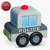 3d model construction icons 47 police car