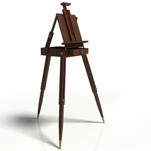 3d model easel painter