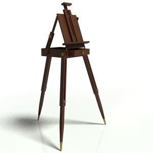 3d model easel painter