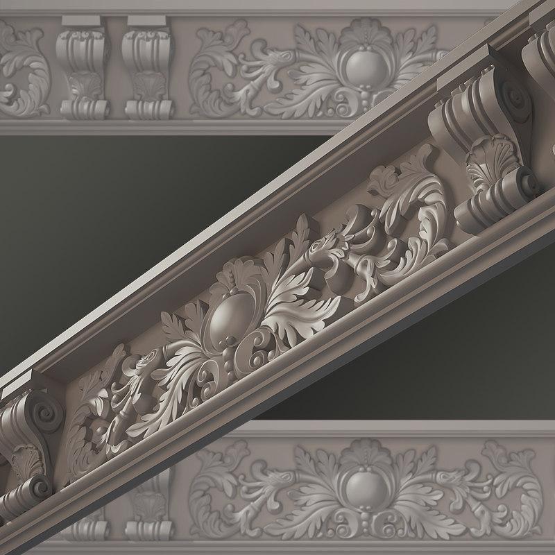 3d classical cornice