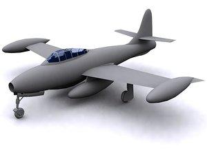 3ds max poligon f-84g fighter plane