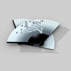 3d model traditional japanese fan