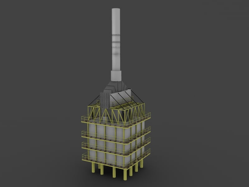 furnace refineries 3d max