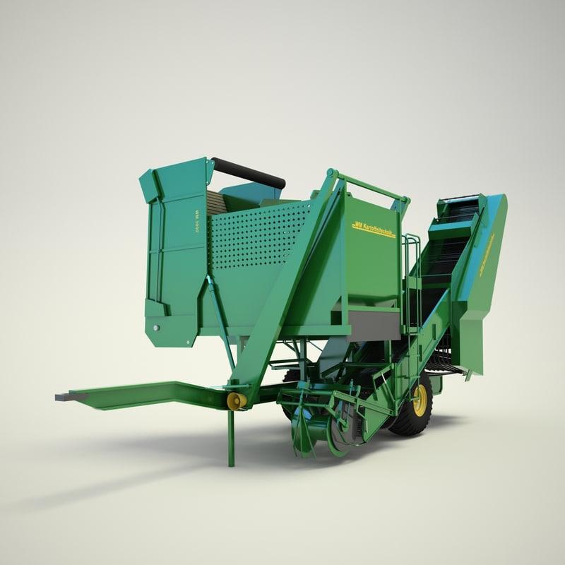 3d model of combine