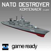 3ds nato destroyers ship