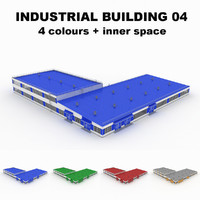 large industrial building 04 3d model