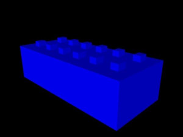 free polly lego brick 3d model
