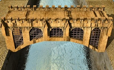 3ds medieval bridge