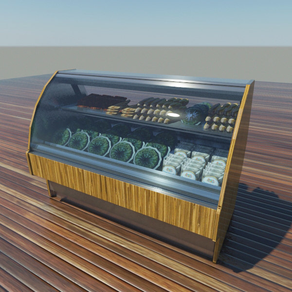 3d refrigerated display case model