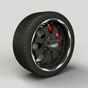 3d metal 959 rim tyre