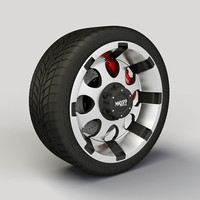Wheel MotoMetal 955 rim and tyre