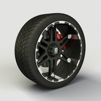 Wheel XD Series XD797 rim and tire