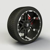 Wheel XD Series XD797 rim and tire