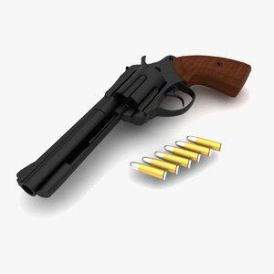 shooter revolver 3d model