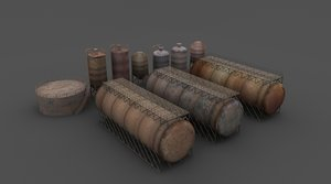 3d rusty tanks model