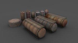 3d rusty tanks model