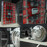 3ds max bank vault door