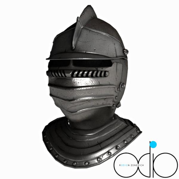 3d model helmet knight helm
