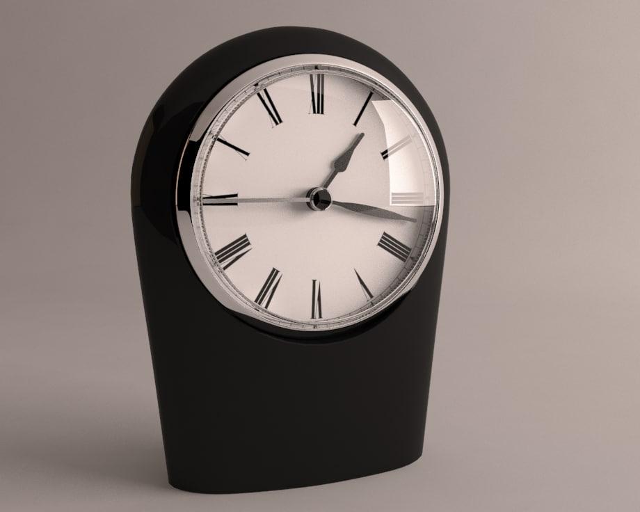 3d model desk clock
