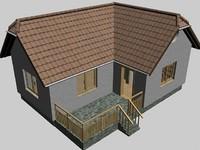 3d model of weekend house