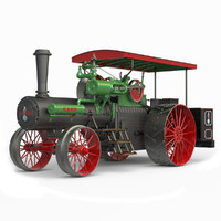 steam traction engine 1912 3d obj