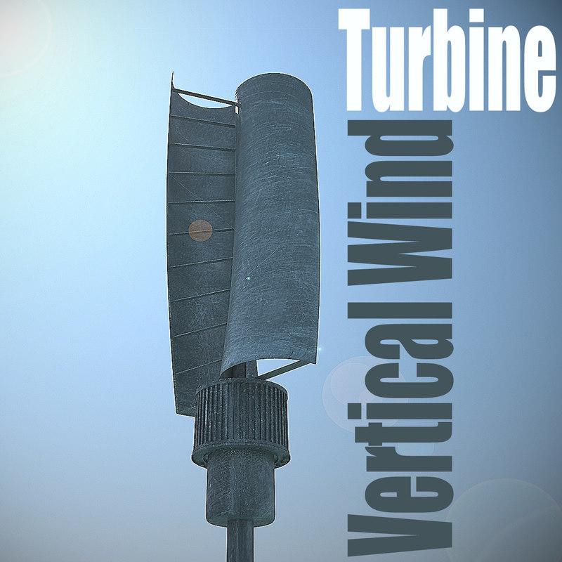 3d vertical wind turbines model