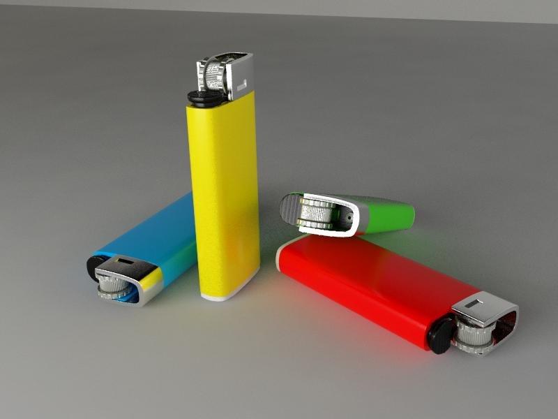 cigarette lighter 3d model