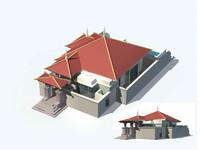 exterior rendering 3d model
