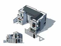 3d exterior rendering 5 model