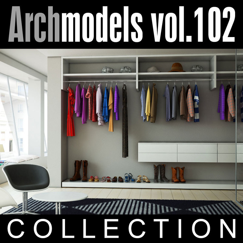 3d model of archmodels vol 102 wardrobes
