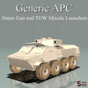 armored personel carrier 3d obj